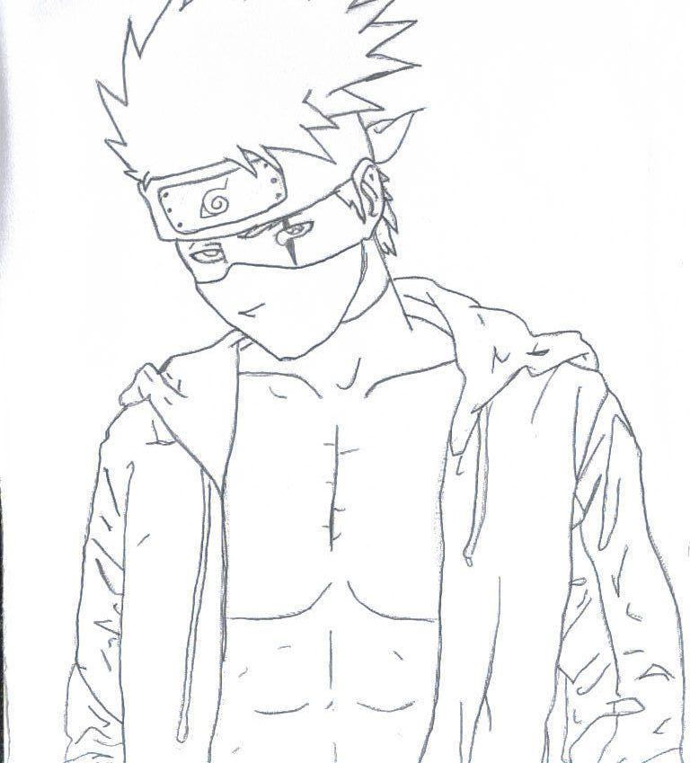 comment dessiner kakashi
